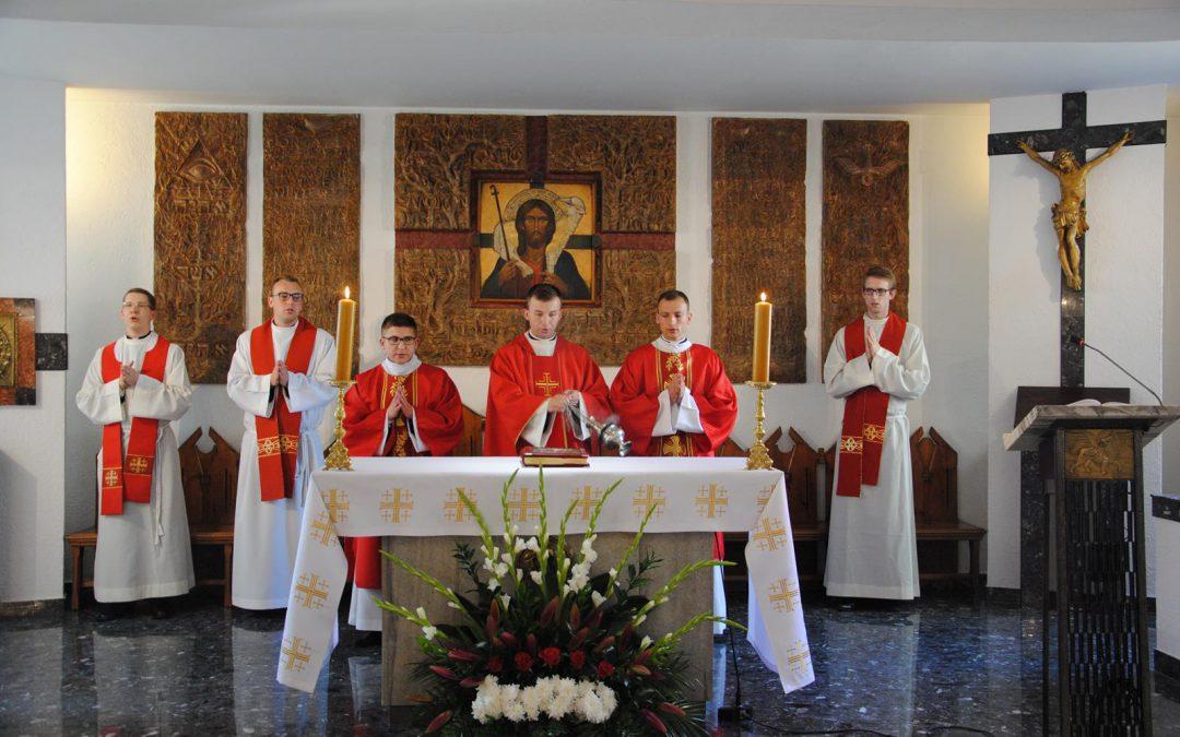 Msza prymicyjna w seminarium